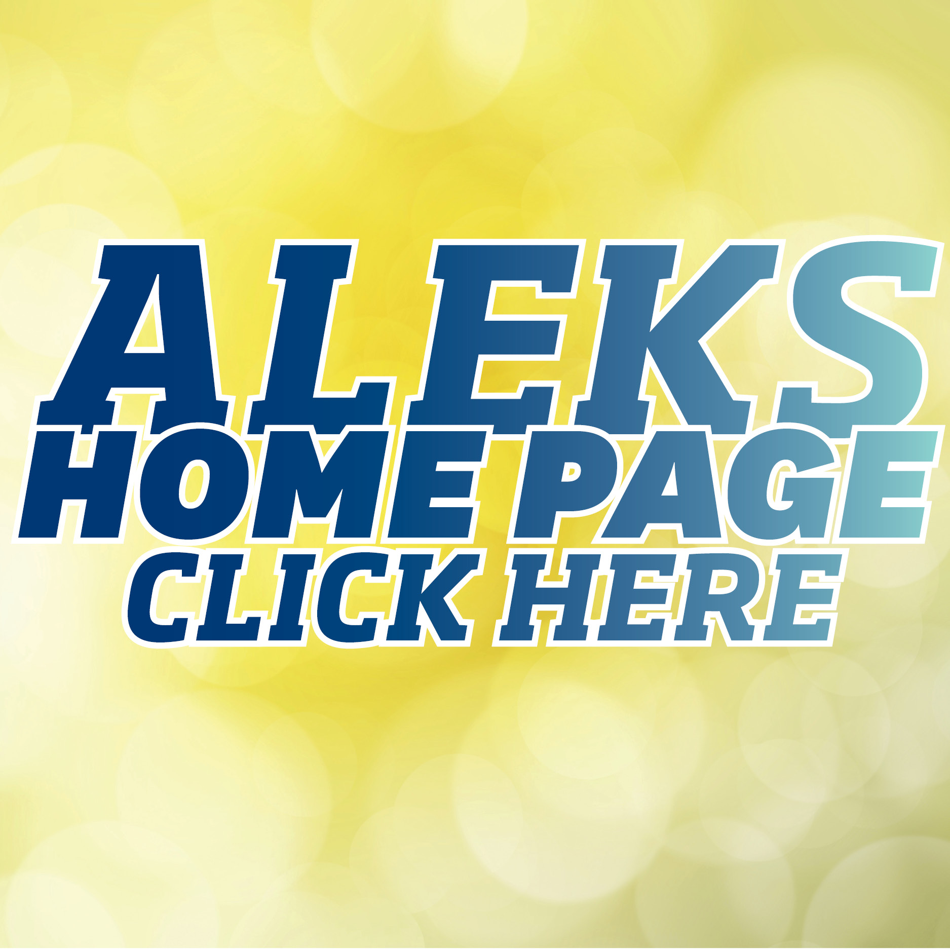 Visit the ALEKS home page