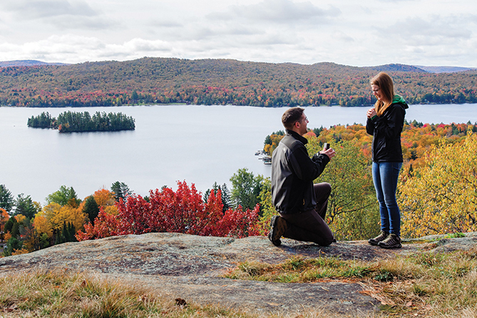 Caitlin Saniga, BS '09, got engaged to Joel Hawksley on October 10