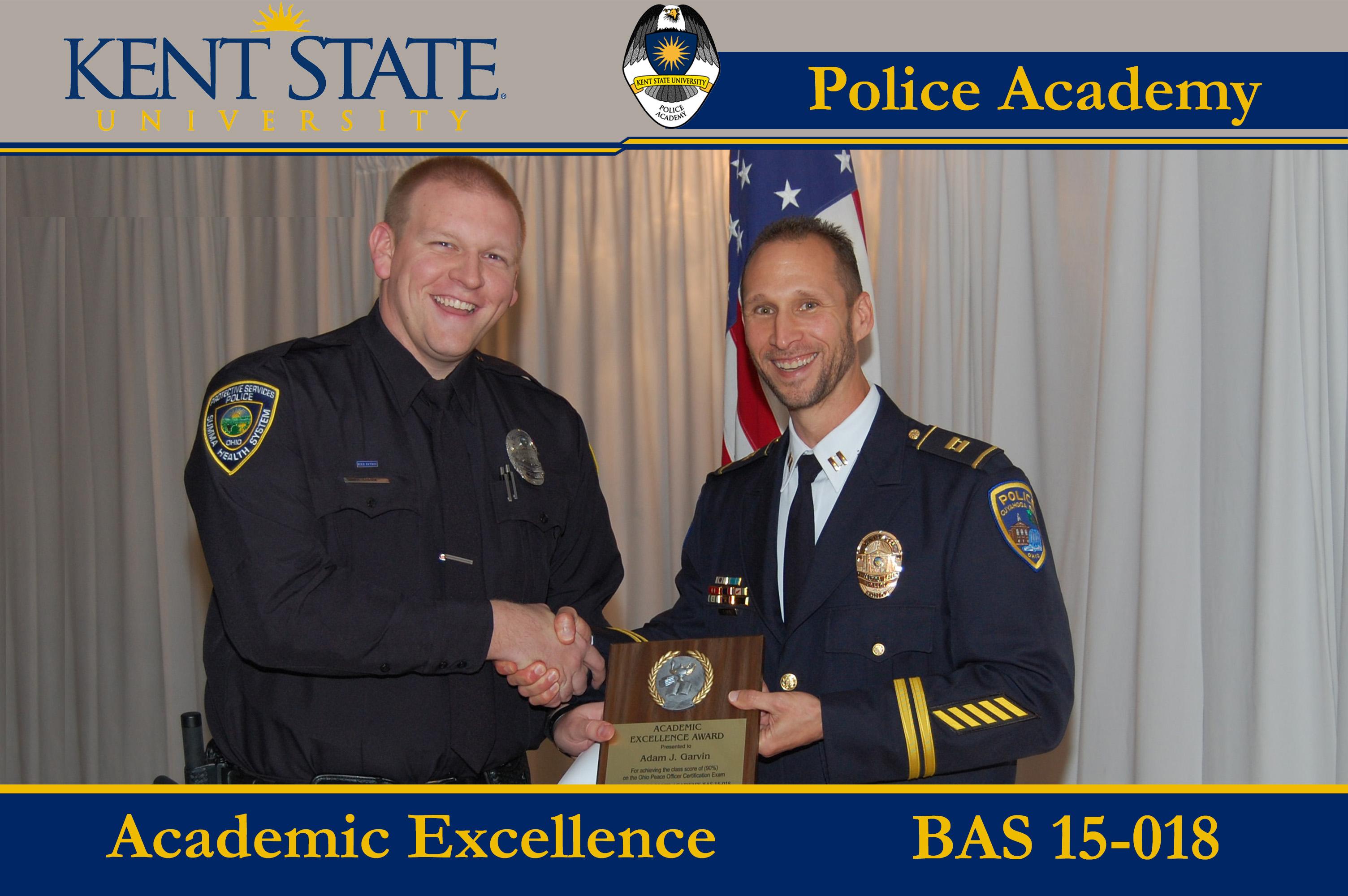 Cadet Receiving Academic Excellence Award 1