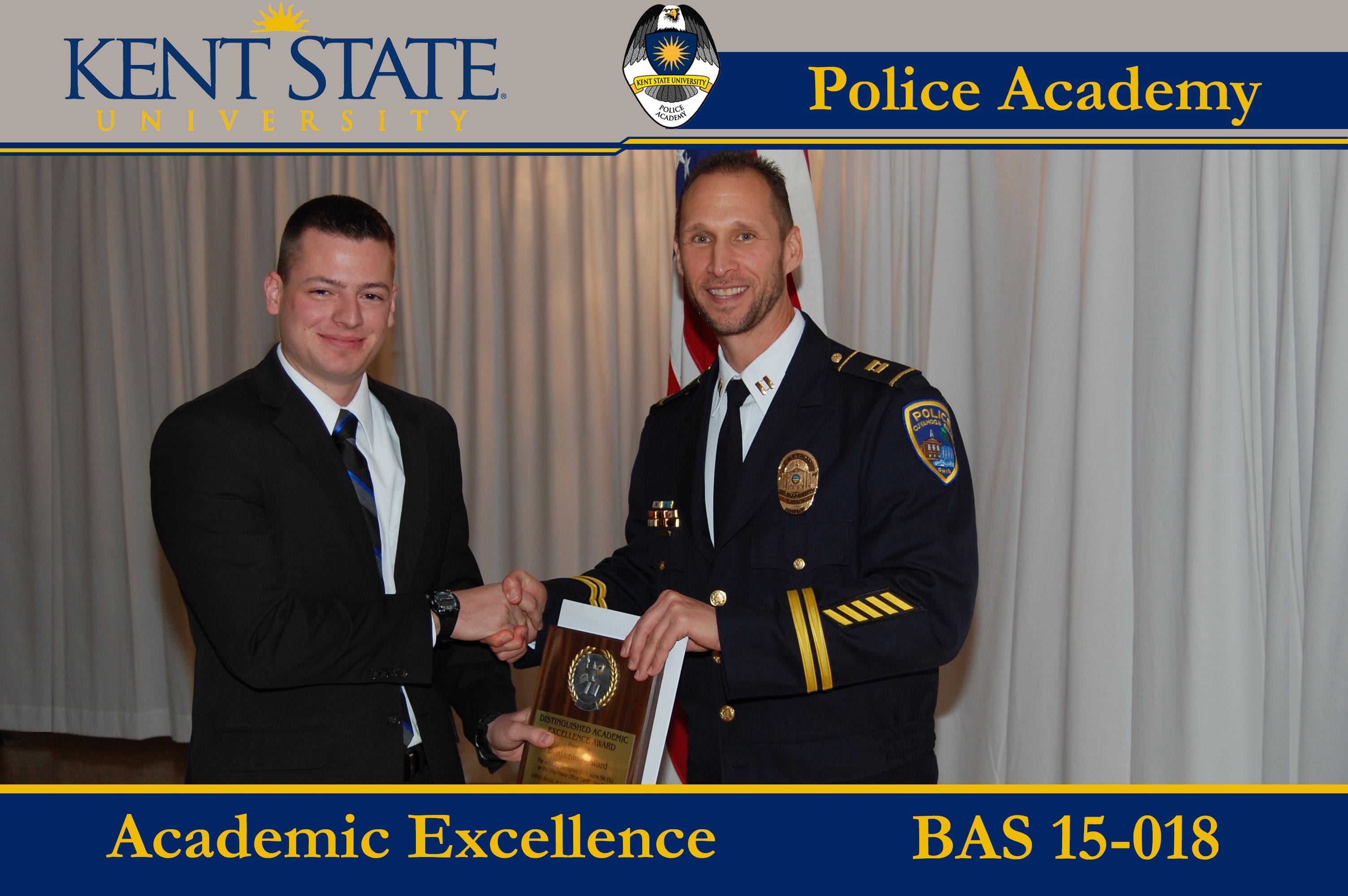 Cadet Receiving Academic Excellence Award