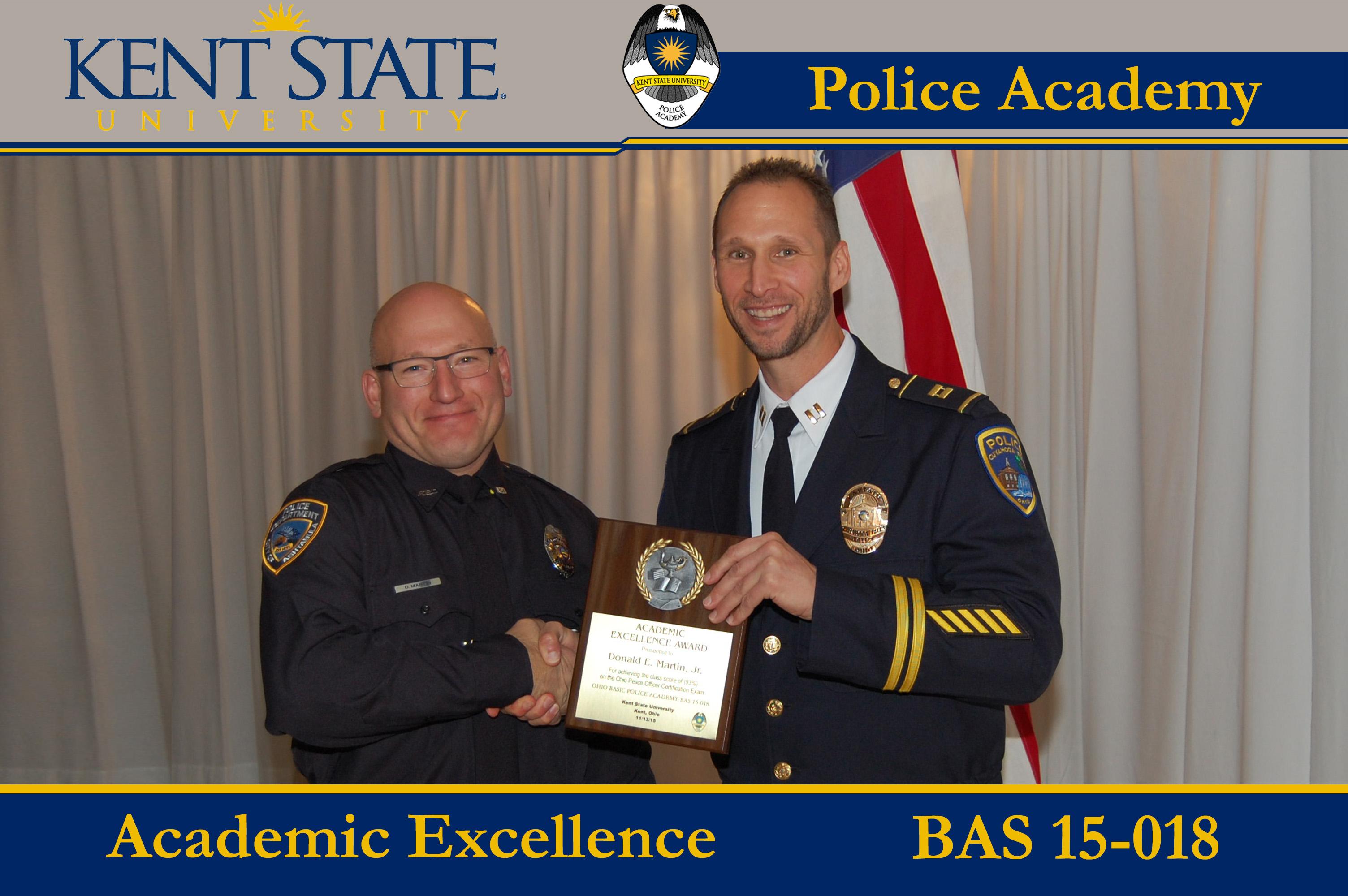 Cadet Receiving Academic Excellence Award 3