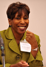 Alfreda Brown, Ed.D., Kent State University's vice president for diversity, equity and inclusion, received the 2013 Ohio Glass Ceiling Award that recognizes women who have overcome barriers to climb to the top in their professions