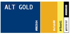 Alt Gold color palette