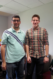 """Kent State anthropology graduate students  Ghassan Rafeedie and Matt Buttacavoli won the first-ever """"Anthropology Bowl"""" at the Central States Anthropological Society conference in St. Louis, Mo. The two-hour competition pitted students from colleges and universities all over the Midwest against each other."""
