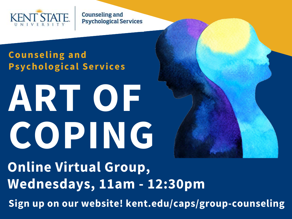 Art of Coping online virtual group, Wednesdays, 11 A.M. - 12:30 P.M.
