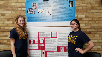 Ashley Burcaw presented on Florence Nightingale and Brianna Parfaite presented on Deborah Sampson