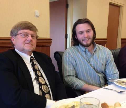 Dean O'dell Scott with Pi Sigma Alpha inductee