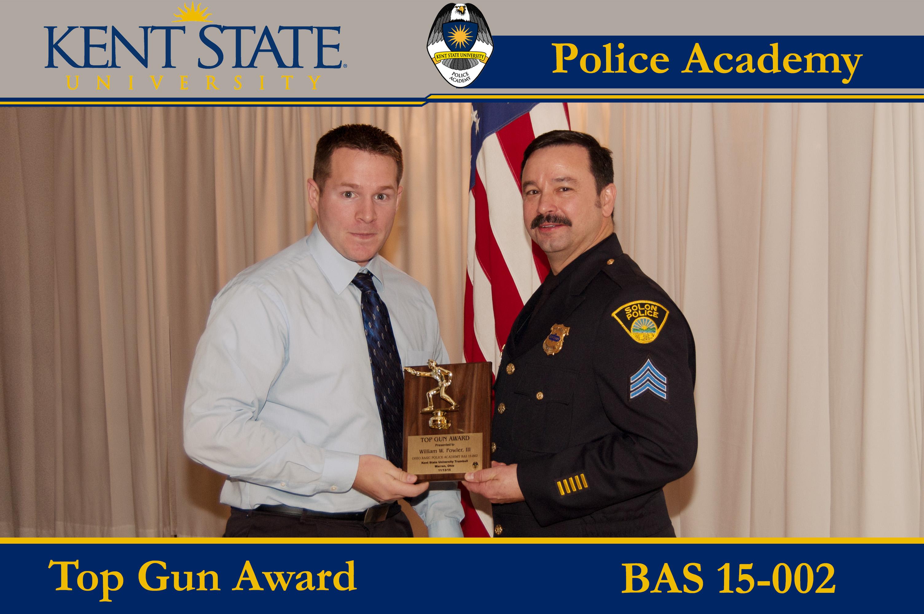 Class BAS 15-002 Cadet Receiving Top Gun Award