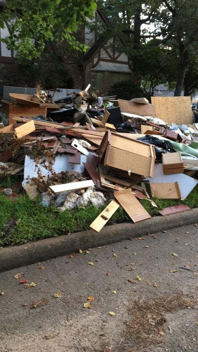 Property damage from Hurricane Harvey