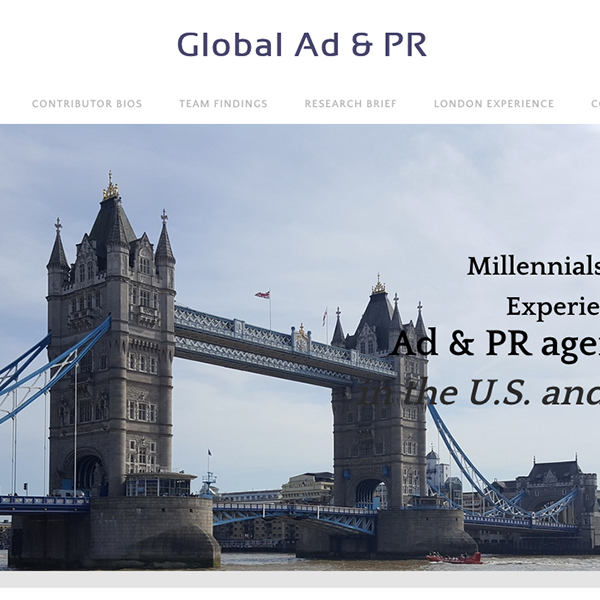 Global Advertising and Public Relations Website