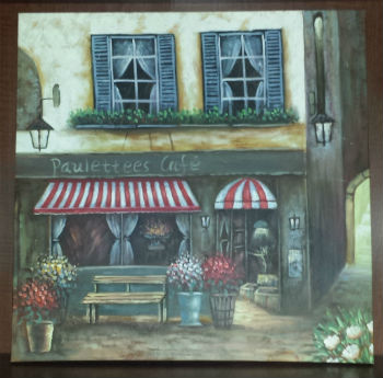 Cafe Canvas Print