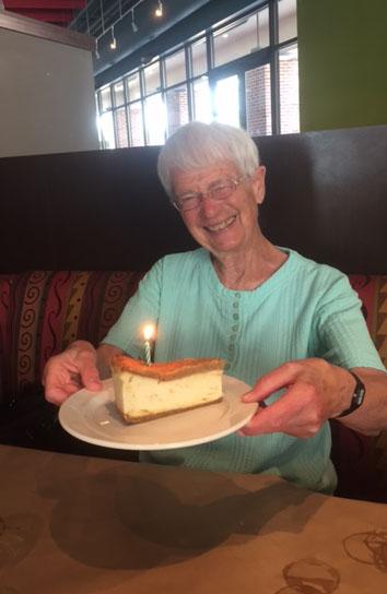 Cathy Cahur Celebrates her 80th birthday