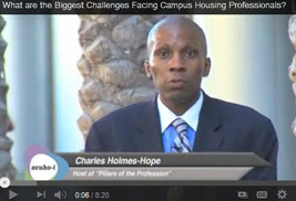 Kent State's Assistant Director of Residence Education Charles Holmes-Hope led a video project that discusses issues that impact global university housing. Holmes-Hope collaborated with the Association of College and University Housing Officers-International to produce the video.