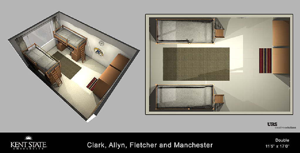 Room diagram for Clark, Allyn, Fletcher and Manchester