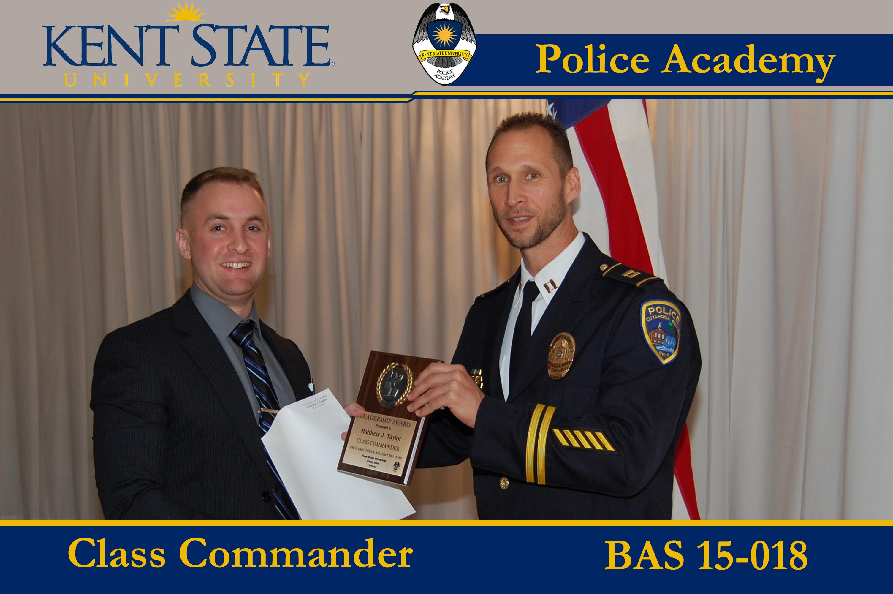 Cadet Receiving Award for Class Commander