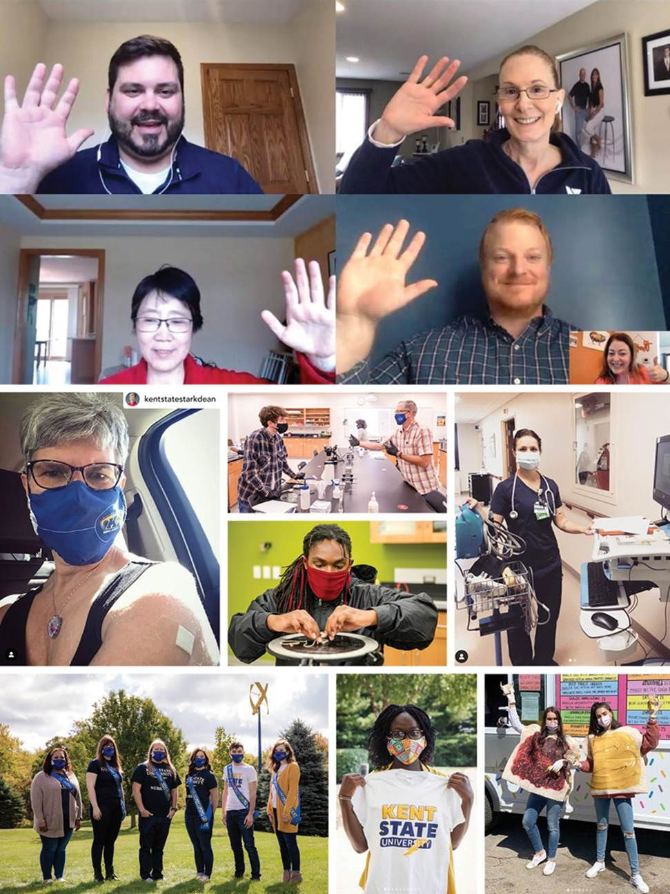 Covid Collage, a year in review