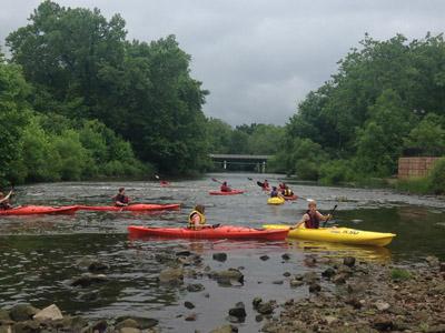 Rural Scholars Experienced Kayaking at Kent State University