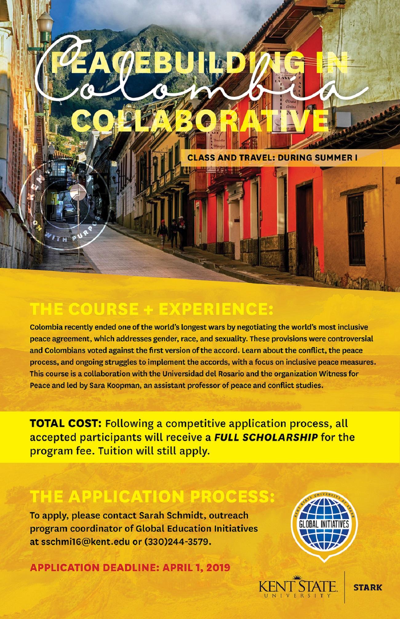 Peacebuilding in Colombia Collaborative flyer