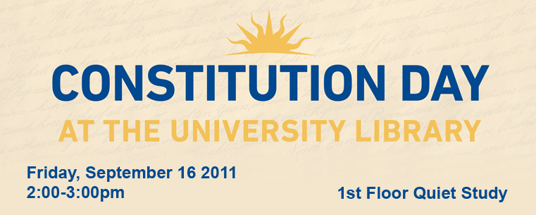 Constitution Day at the University Library