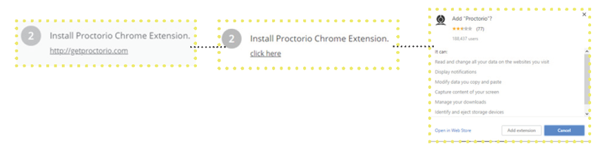How to Create an Exam in Proctorio Adding the Proctorio Chrome Extension