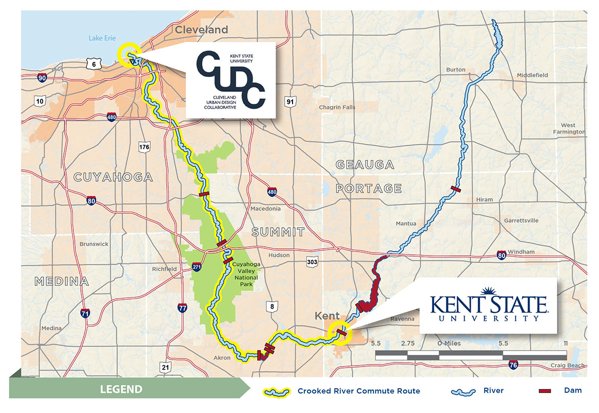 Map of The Crooked River Commute