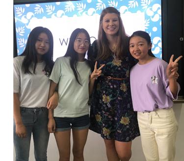Demi Edwards in China