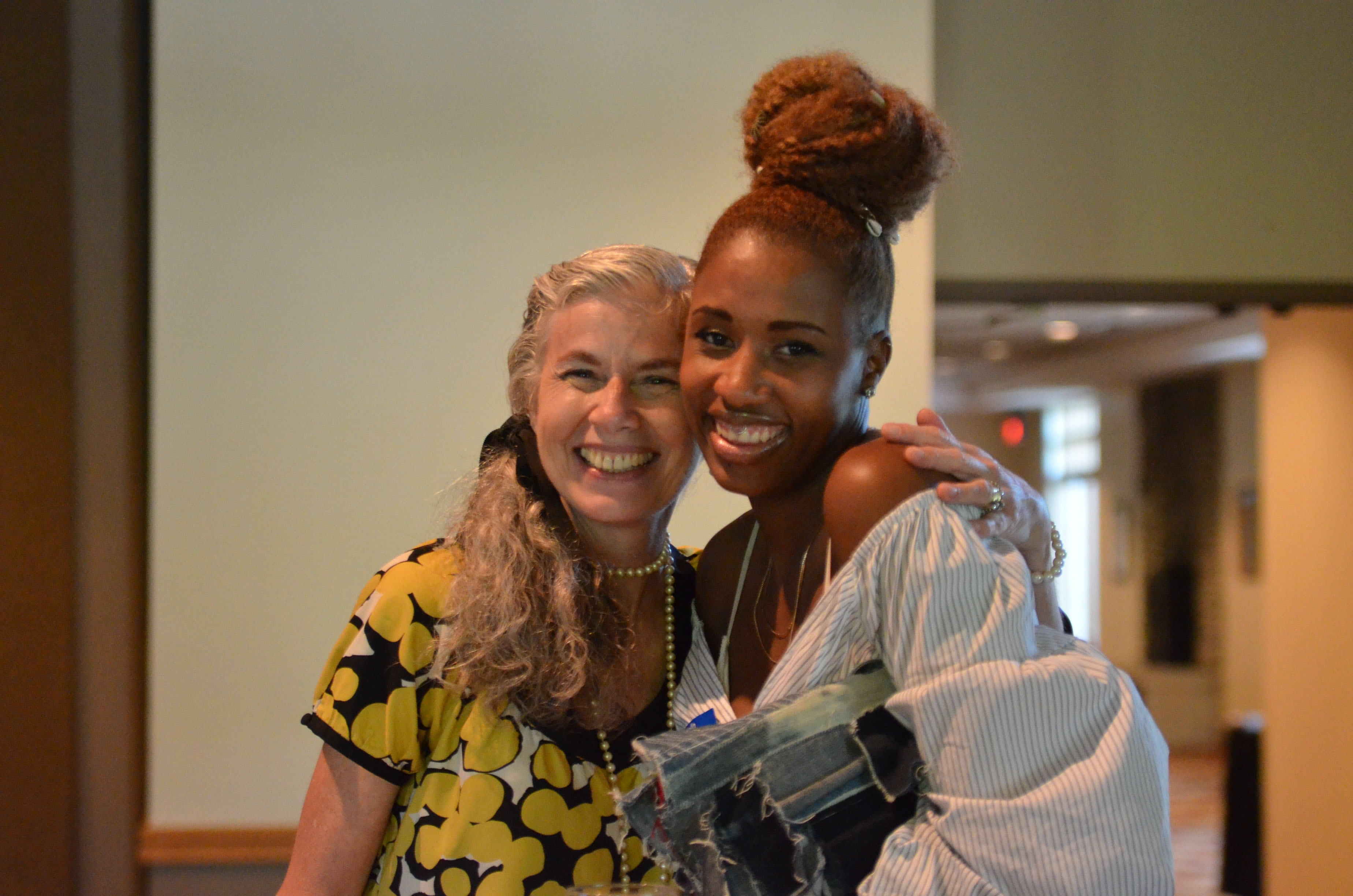 Dr. Catherine Leslie picture with alumna at the Fashion School's 2019 Columbus Alumni Event