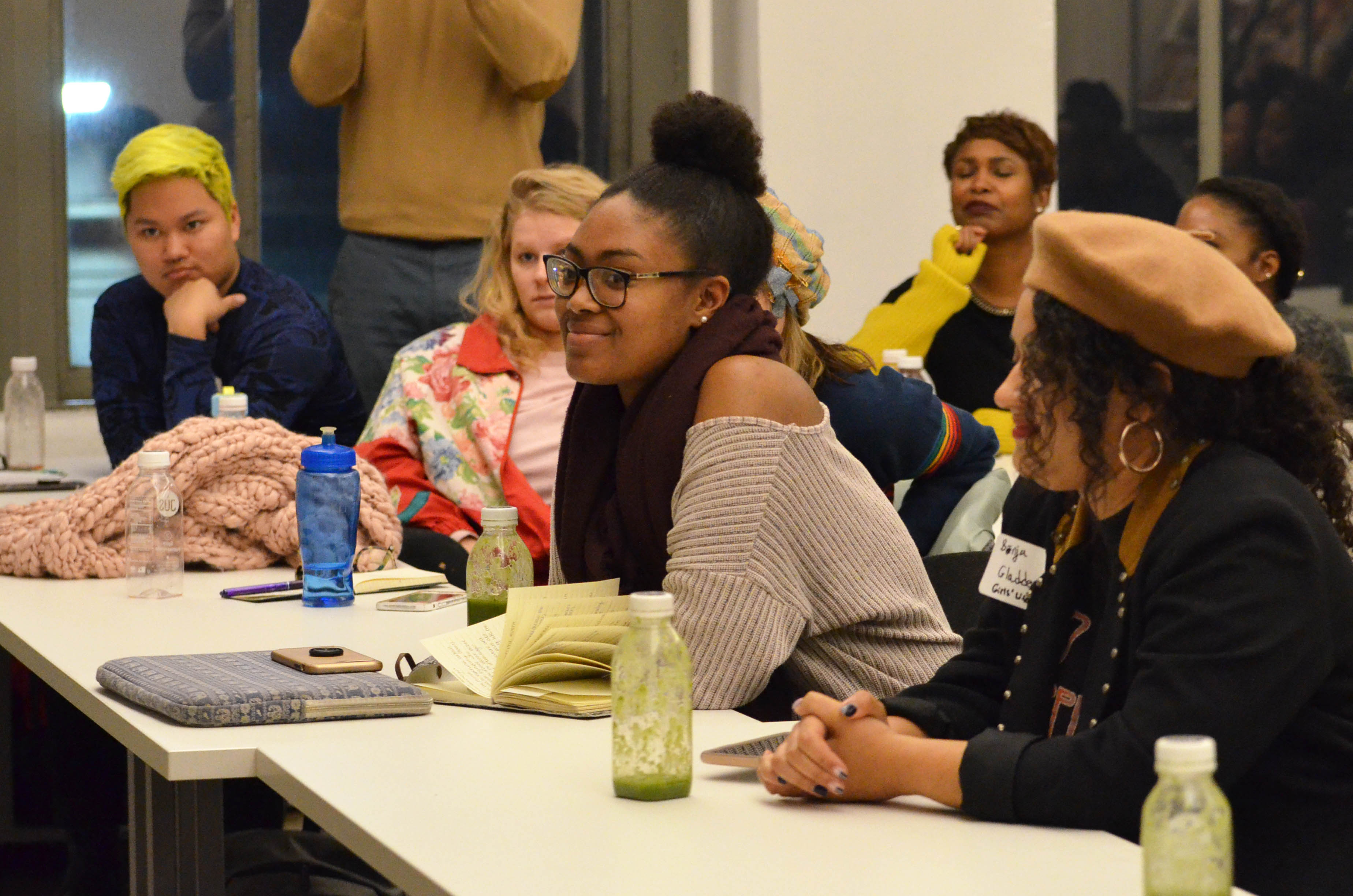 Student listens to panel discussion during the 2019 NYC Studio diversity event