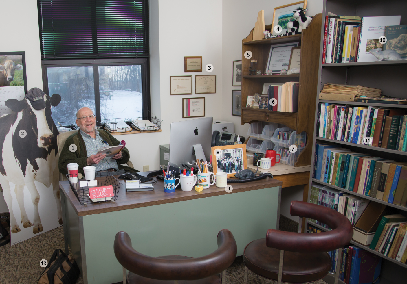 Dr. David C. Riccio in his office: 315 Kent Hall Addition