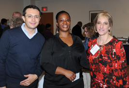 Kent State employees pose for a photo during the New Hire Diversity Networking Lunch sponsored by the Division of Diversity, Equity and Inclusion.
