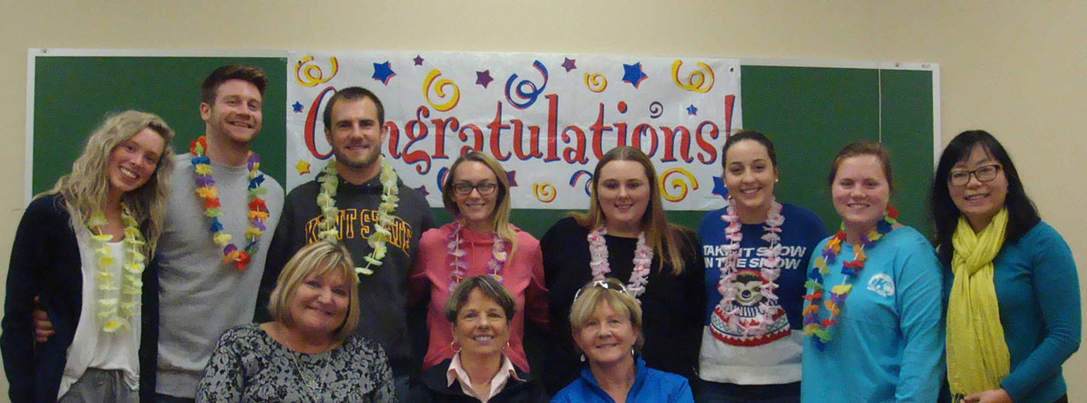 December graduates of the early childhood education technology program and their sponsors