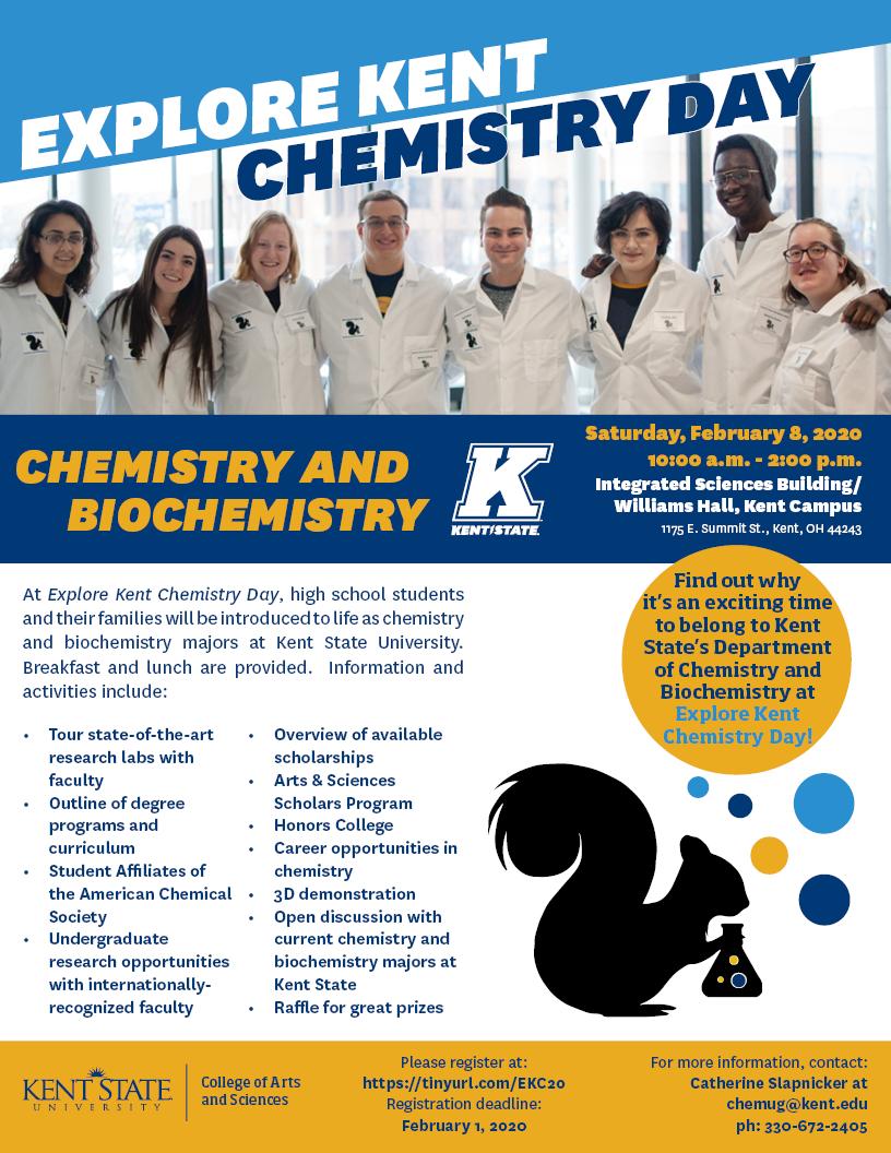 Explore Kent Chemistry Day flier
