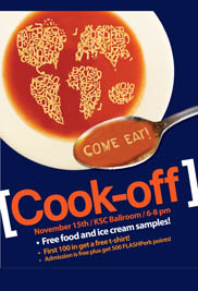 The 5th International Cook-Off event, hosted by Kent State's Office of Global Education, will take place on Nov. 15.