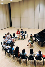 Donna Lee, an associate professor of music at Kent State University, leads a class during last year's Piano Institute. The university presents its seventh annual Piano Institute on July 15-25
