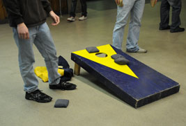 The annual United Way Cornhole Tournament will take place Nov. 7 at the Student Recreation and Wellness Center.