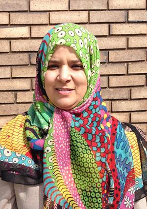 Fatema Nafa, a PhD student from Libya