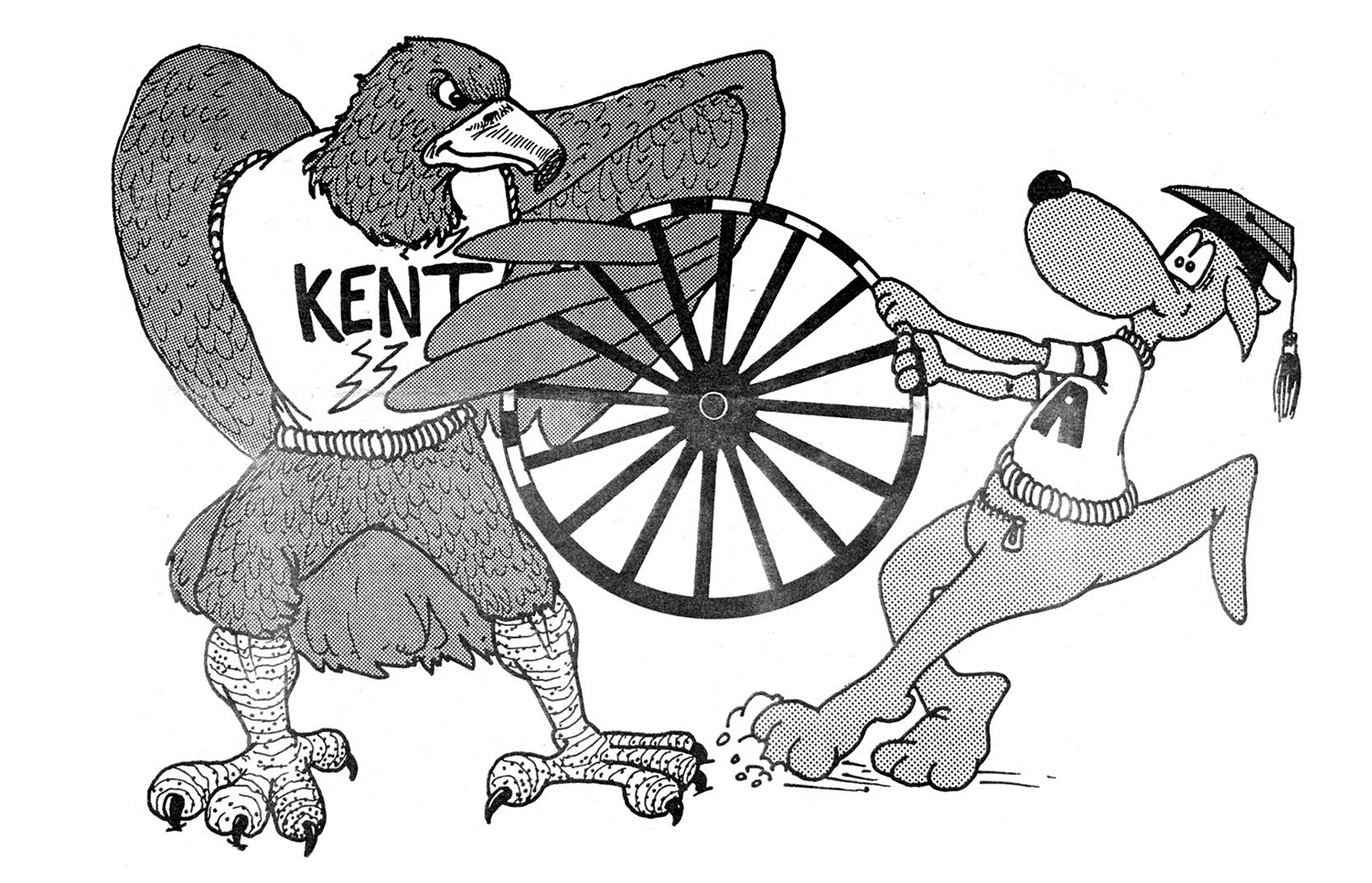 illustration from Daily Kent Stater September 9, 1986