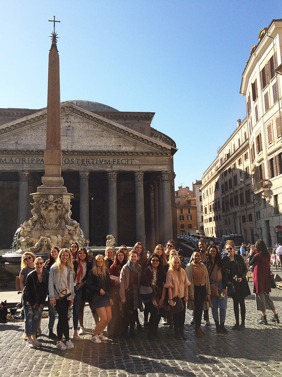 Students studying in Florence for study abroad