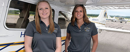 Jaila Manga and Helen Miller, both Kent State seniors majoring in flight technology, competed in the Air Race Classic for the second year in a row.