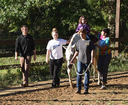 OTA Students at Focus Hippotherapy in Berlin Center, OH