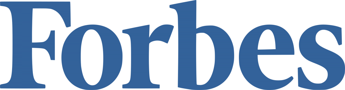 Forbes logo, linking out to Forbes website