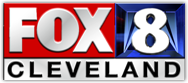 Fox 8 Cleveland logo, linking out to Fox 8 website