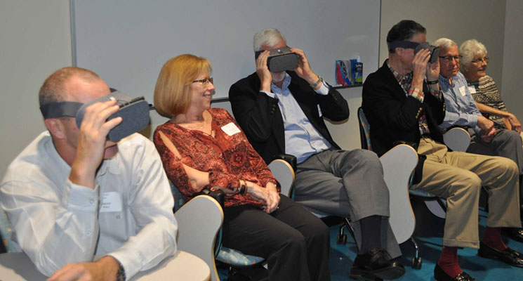 Getting close-up views of the virtual reality technology on campus