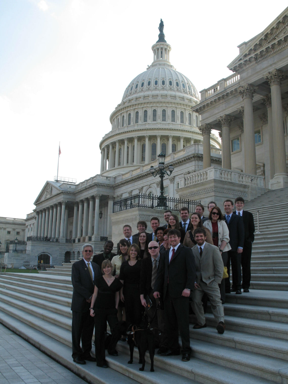 Picture of the Capitol with Students