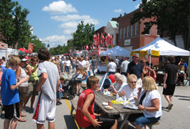 Visitors and vendors line the streets in downtown Kent during the annual Kent Heritage Festival.