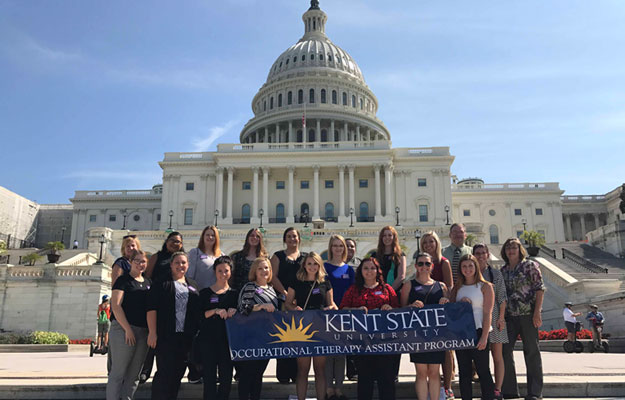 Kent State East Liverpool students and faculty from the occupational therapy assistant program attended Hill Day in Washington, D.C.