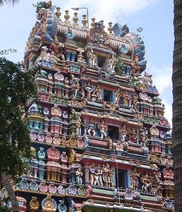 A temple in Bangladore, India.