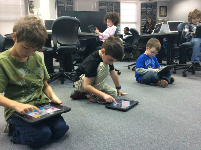 Students use tablets as a valuable learning resource