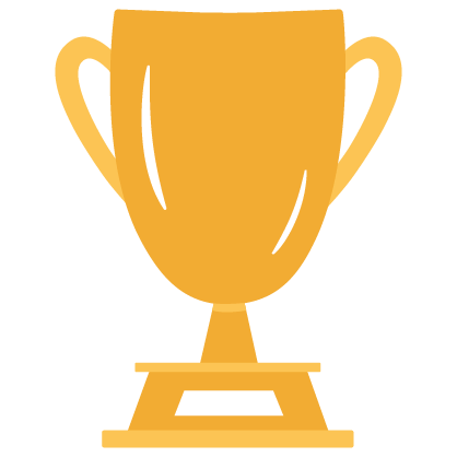 Graphic of a gold trophy