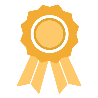 Graphic of a gold ribbon